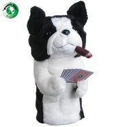 Poker Playing Boston Terrier Headcover
