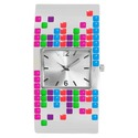Women's Xhilaration Metal Bangle Watch - Multicolo