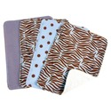 8 Piece. Bib and Burp Cloth Set Safari Blue For Ba