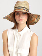 Stop & Go Wide-Brimmed Striped Raffia Hat