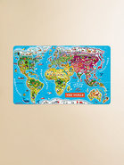 World Wooden Magnetic Puzzle