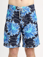 Sea Anemones Printed Swim Trunks