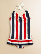Girl's Port Stripe Swimdress