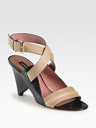 Pace Leather Ankle Strap Sandals