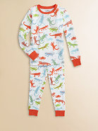 Toddler's & Little Boy's Crazy Lizard Pajama Set