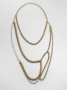 Layered Bead & Chain Necklace
