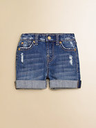 Toddler&#39;s &amp; Little Girl&#39;s Distressed Denim Shorts