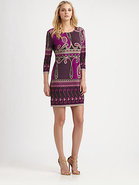 Printed Matte-Jersey Dress