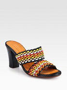Viky Woven Leather Sandals