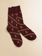 Boy&#39;s Skull &amp; Stripes Socks
