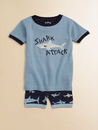 Toddler's & Little Boy's Shark Attack Pajama Set