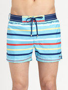 Graduated Stripe Swim Trunks
