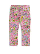 Toddler's & Little Girl's Paisley Jeans