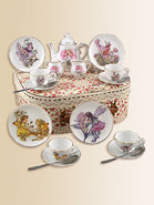 Kid&#39;s Flower Fairies Medium 19-Piece Tea Set