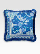 Bursa-Print Satin Accent Pillow