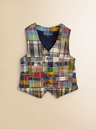 Toddler's & Little Boy's Madras Vest