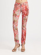 Printed Skinny Jeans