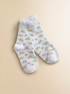 Toddler's & Little Girl's Floral Trouser Socks
