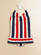 Toddler's & Little Girl's Port Stripe Swimdress
