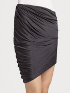 Draped Jersey Skirt