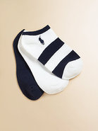 Kid's Striped and Solid Ankle Socks Three Pack