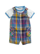 Infant's Two-Piece Madras Jumper & Tee Set