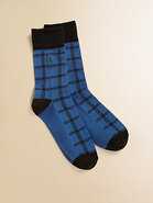 Boy's Buffalo Plaid Socks