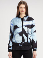 Aaron Printed Silk Jacket