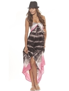 Jenna Dress in Black Tie Dye