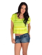 Neon Burnout Stripe Tee