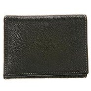 Trifold Wallet Tumbled - Men's - Wallets - Black