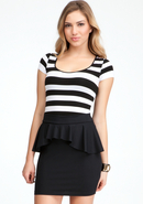 - Stripe Tee - Black/White - M/L
