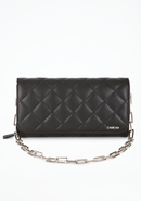 - Quilted Leather Clutch - Blk - 1Sz