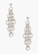 - Chainlink Tiered Earring - Silver - 1Sz