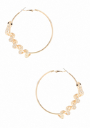 - Snake Wrap Hoop Earring - Crystal In Gold - 1Sz