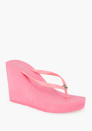 - Logo Flip Flop Wedge - Pink Lemonade - M