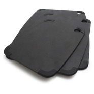 Black Slate Nonslip Cutting Board, 17 1/2  x 13 ,