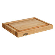 . Maple Edge-Grain Cutting Board with Deep Groove,