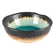 Turquoise Sky Glazed Round Dip Dish