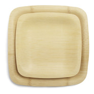 Veneerware Bamboo Disposable Plates, Set of 8, 9