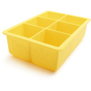 King Cube Ice Tray, Sunshine Yellow