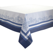 Blue Renaissance Jacquard Tablecloth, 70  x 70 , 7