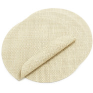 Wheat Round Basketweave Placemat