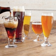 Footed Pilsner Beer Glass