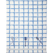 Checkered Flatware Vintage-Inspired Kitchen Towel