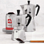 Moka Express Espresso Makers, 6 Cups, 6 cup