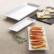 Blanc Rectangular Serving Platters, 9.5 x3.5