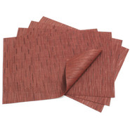 Cranberry Rectangular Bamboo Placemat