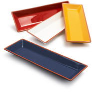 Terracotta Rectangular Serving Platter, Yellow