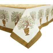 Olive Tree Printed Tablecloth, 59  x 86